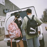 新款Puma彪马双肩包正品樱花粉背包时尚潮流小包校园男女学生书包