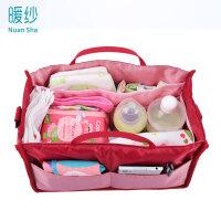 20180428150918832暖纱 妈咪包内胆包大容量多隔层包中包收纳包旅行整理包