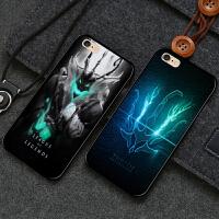 苹果X8p手机壳iphone7 plus锤石6s魂锁典狱长6sp腥红之月 苹果5 5s(透明 边框)