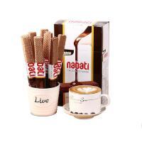 【当当海外购】印尼进口 零食丽芝士纳宝帝nabati丽巧克力味威化饼干 威化200g*2盒