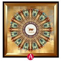 家居生活用品现代简约客厅装饰画欧式大气玄关挂画美式餐厅壁画沙发背景墙画马