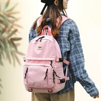 女士背包小背包尼龙双肩包包包女 新品中学生书包女双肩包简约小学生韩版校园防水大容量背包学院风