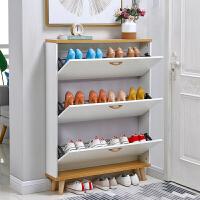20191224065000998北欧仿实木超薄翻斗鞋柜大容量家用组装鞋架实惠型环保鞋橱