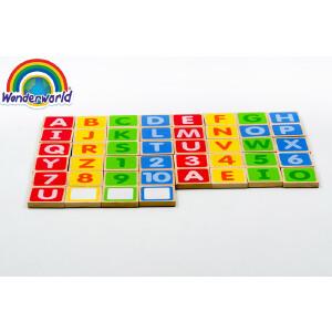 [当当自营]泰国Wonderworld 大写字母磁力贴 英语数字启蒙 早教益智 木质磁贴板