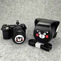 熊本可爱微单相机包相机套皮套索尼A5100 A6000 A5000 A6300EOSM6