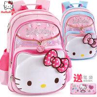 凯蒂猫儿童双肩背包女童1-3-4年级hello kitty女孩6-12小学生书包