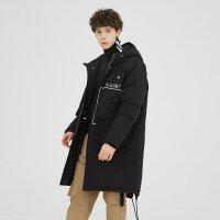 【1件2.5折到手价:450】美特斯邦威工装羽绒服男中长款新款冬季潮流韩版加厚外套男潮