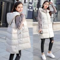 棉马甲冬装女2018新款韩版羽绒棉衣女装中长款冬季加厚背心外套潮