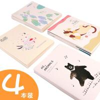 广博B5线装笔记本大号柔光护眼纸缝线记事本中小学生用可爱创意清新时尚课堂记录本子