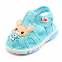 6-12个月男宝宝鞋子软底婴儿鞋叫叫鞋0-1-3岁女宝宝凉鞋夏季学步鞋