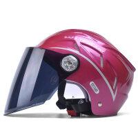 AHA摩托车头盔男电动车头盔女冬季保暖四季防雾个性安全帽半盔kv7