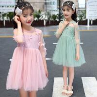 童装女童裙子夏装新款时尚韩版夏季儿童洋气公主裙蓬蓬纱潮衣