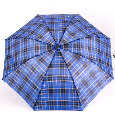 8K情侣格子伞 三折伞 便携迷你折叠短柄雨伞 促销礼品伞 颜色*支持货到付款。颜色*