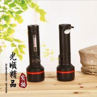 7大灯头/2档LED手电筒 大号电筒 家用充电照明电筒 塑料强光手电