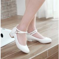 女童学生皮鞋春秋新款白色童鞋礼服公主儿童高跟鞋舞蹈表演鞋