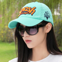 韩版潮男女士夏天鸭舌帽嘻哈帽棒球帽花朵蛇皮街舞帽平沿帽子