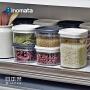 inomata日本进口厨房塑料密封罐食品柜意面杂粮储物罐豆子收纳罐