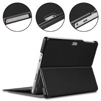 【送钢化膜+OTG线+电容笔】微软Surface Go保护套10英寸二合一平板电脑皮套微 黑色【轻薄款 可插键盘】送钢