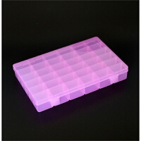 透明长方形可拆卸 塑料首饰盒 药盒小格子收纳盒饰品盒