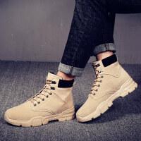 冬季马丁靴英伦风男靴工装高帮男鞋中帮棉靴ulzzang复古短靴子潮