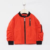 【1件2折到手价:69.8】米喜迪mecity童装春新款男童后背刺绣立领夹克外套