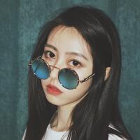 2018新款新款韩版原宿风复古圆框太阳镜女眼镜圆脸网红墨镜潮街拍ins