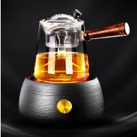 唐丰玻璃煮茶壶电陶炉煮茶器蒸汽蒸茶器自动蒸茶壶套装家用烧煮茶炉