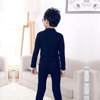 男童冬装加绒白色高领保暖内衣套装3 5 7 9 11岁儿童加厚纯棉秋衣