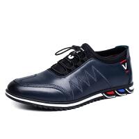 秋冬季皮鞋男士休闲鞋透气真皮牛皮男鞋青年单鞋潮流低帮休闲皮鞋