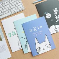 优湃笔记本子b5简约大学生创意韩国小清新厚车线作业本子文具批发