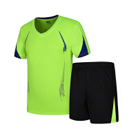 运动套装男宽松大码速干跑步服健身服短袖T恤短裤五分裤运动服