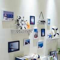 客厅照片墙相框墙简约现代创意卧室儿童房地中海装饰相框组合挂墙