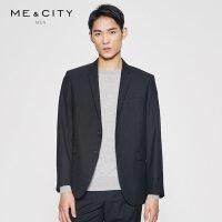 【2件2.5到手价:189】MECITY男装春季羊毛纯色商务修身正装西装小外套