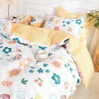 伊迪梦家纺 全棉被罩单件单品被套 斜纹纯棉床上用品200*230 220*240双人床FY41
