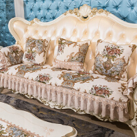 欧式防滑真皮沙发垫套布艺沙发坐垫贵妃组合四季通用高端1 米白色 维多利亚