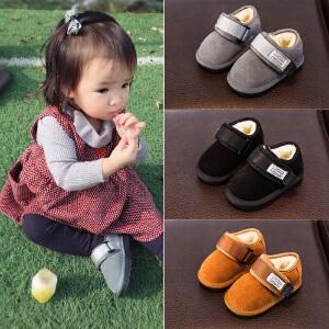 宝宝棉鞋1-3岁男加绒冬季男童鞋子0-2女软底冬鞋保暖小童婴儿学步鞋冬