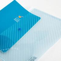 广博10个/装A4塑料透明纽扣文件按扣袋子包文具收纳袋资料档案袋