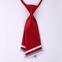 韩版职业正装学院风女士小领带领结领花表演日式蝴蝶结学生{}xx D01酒红色