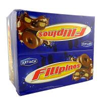 西班牙进口Filipinos巧圈圈 黑白牛奶巧克力脆 1620g(135gX12条) 整盒 多味可选
