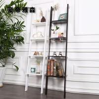 【限时7折】转角墙上装饰实木板搁板创意居层架客厅角落地书架花架