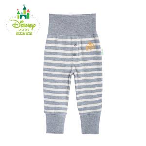 迪士尼Disney童装婴儿高腰护肚纯棉宝宝条纹休闲长裤153K675