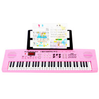 ?儿童电子琴61键粉色玩具琴电钢琴架手机ipad多功能卡通琴? 自然白 标配