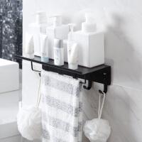 洗手间铁艺壁挂置物架浴室免打孔墙上收纳架卫生间厕所卫浴洗漱架