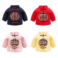 女童洋气冬装外套加绒加厚1岁3男宝宝保暖棉衣