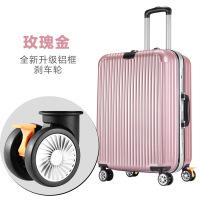 铝框拉杆箱万向轮行李箱商务青年旅行箱托运箱时尚皮箱潮s6 玫瑰金铝框尊贵款 20寸