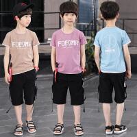新款套装夏季童装儿童8帅气9小男孩中大童潮衣服10岁