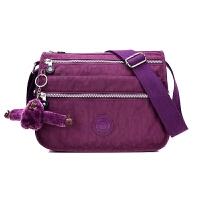 新款帆布单肩包尼龙牛津布斜挎包女包小包包防水轻便妈妈包中老年 深紫色 /高贵紫 款1
