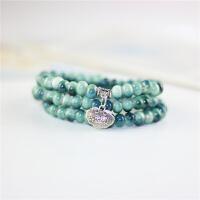 新款民族风复古陶瓷念珠手链 女 韩版 绕三圈佛珠 添福 可做项链