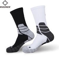 准者专业运动袜 毛巾底精英袜加厚中长筒袜吸汗防滑防臭篮球袜子