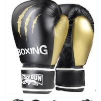 户外 拳击手套成人专业散手套黑白金色打训练格斗搏击拳套打沙袋